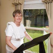 senior home exercising