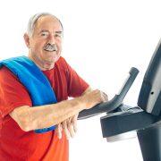Healthy Senior Man in GYM
