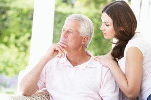 caregiver with senior client