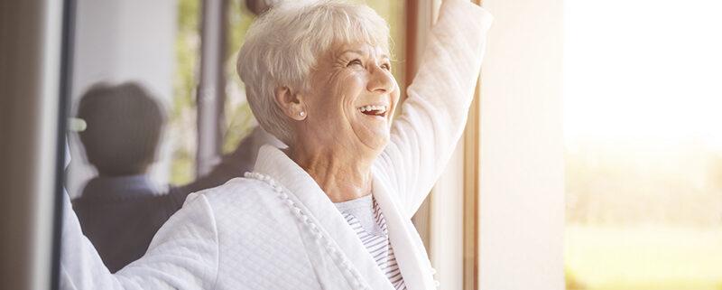 senior woman enjoying outdoors